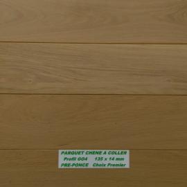 PARQUET MASSIF CHENE / CHOIX PREMIER en 14 mm d'épaisseur à bords droits ( à VISSER ou à CLOUER )