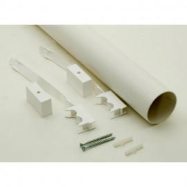 Tuyau aération blanc 2m diamètre 75mm pour toilette sèche