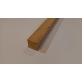 BOIS D'OSSATURE RABOTE en DOUGLAS pour CLOISON Section: 45 x 45 mm