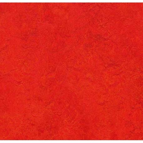 MARMOLEUM Modal GAMME DECORS COLOUR Dalle en linoleum naturel de 50 x 50 cm SCARLET t3131