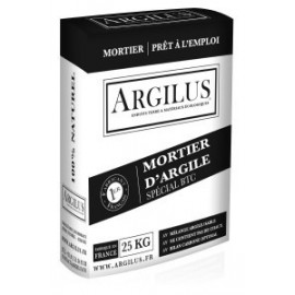 MORTIER D'ARGILE en SAC de 25 kg